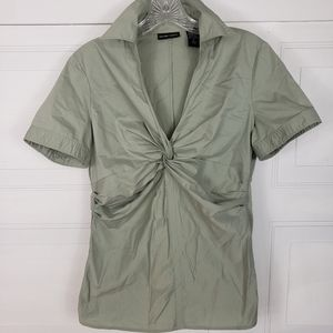 3/$23 New York & Co Olive Green Blouse